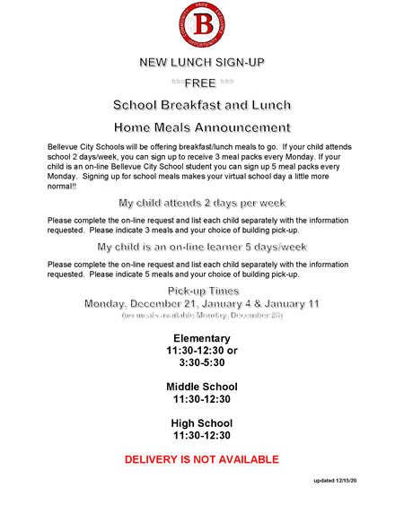 November 30 Lunch flyer extended to January 11