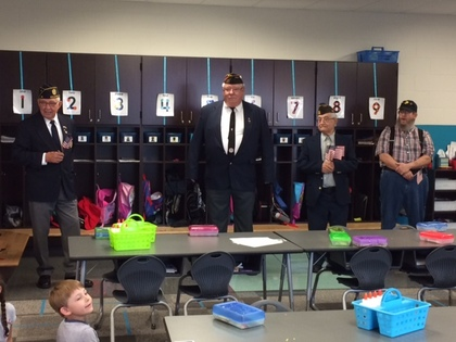 VFW Post 1238 gives flags to children