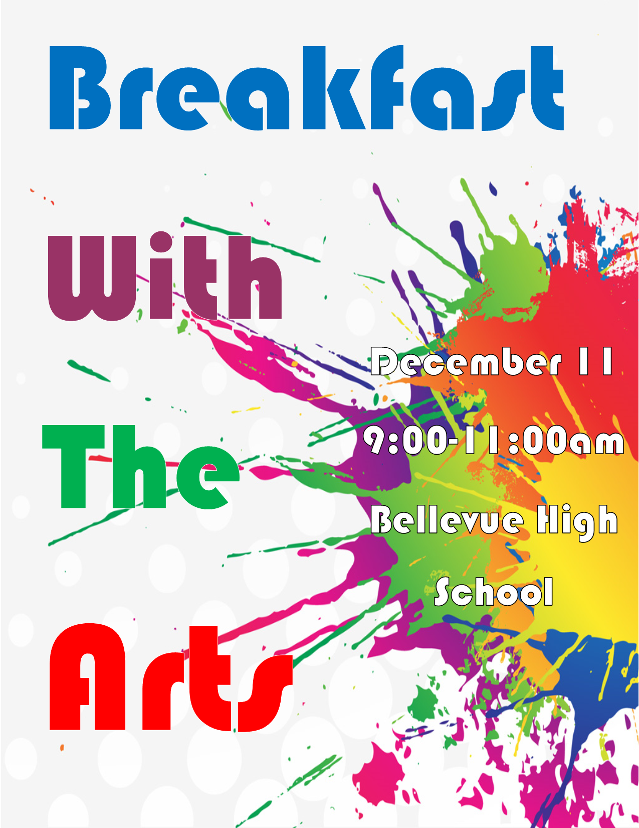 Breakfast with the arts - 12/11 9-11am