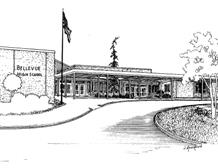 Sketch of Bellevue High School