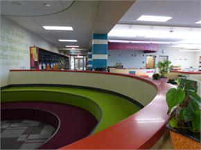 The reading area at the Elementary School