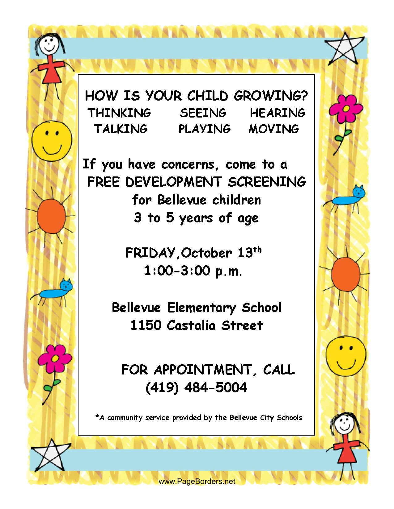flier for screening