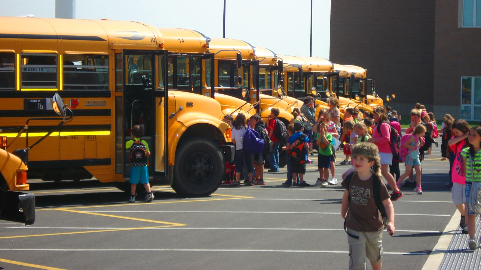 Students going to the busses