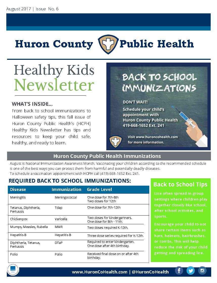 Healthy Kids Newsletter