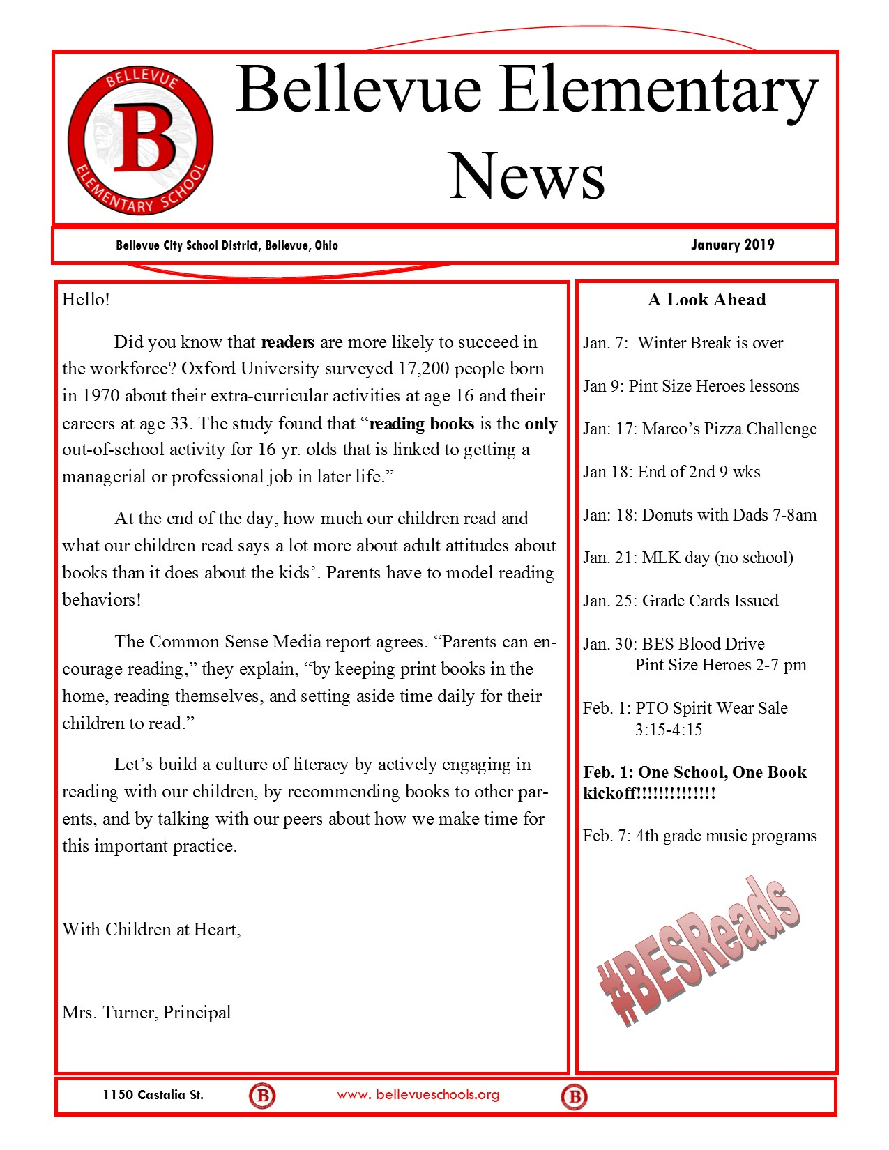 BES Jan 2019 Newsletter